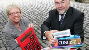 07-07-2011 REPRO FREE Minister for Education and Skills Ruair' Quinn T.D. and the National Consumer Agency Chief Executive, Ann Fitzgerald, today launched a Back to School budget planner to help parents budget for these costs. The calculator was developed in response to online research which showed that 80% of parents have financial concerns in relation to back to school costs. PIC: MAXWELLS NO REPRO FEE