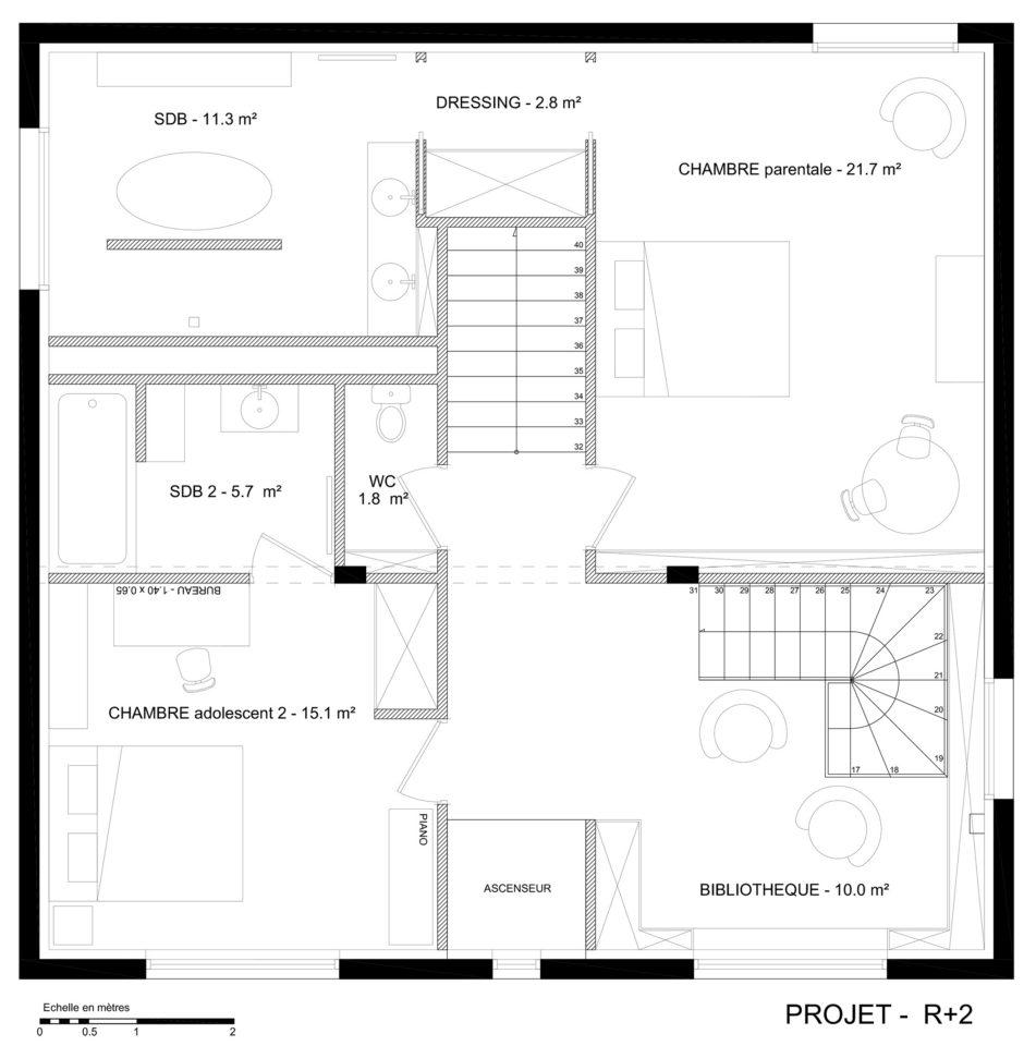 Architecte permis construire projet extension plans tr - Permis de construire extension ...