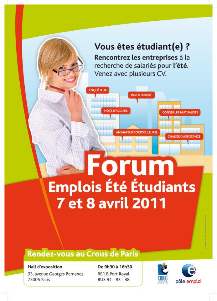 forum emplois ete etudiants 2011 postes proposes enqueteur